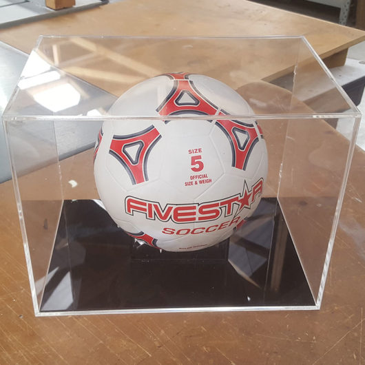 soccer ball dispaly case