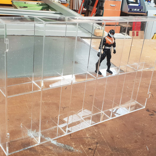 action figure display case made in nz