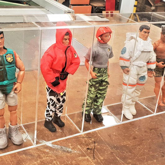 display case for action figures made in nz