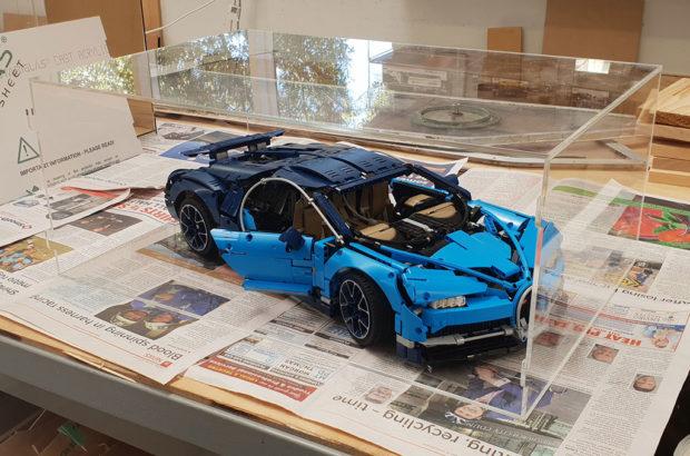 Model car display case - lego bugatti